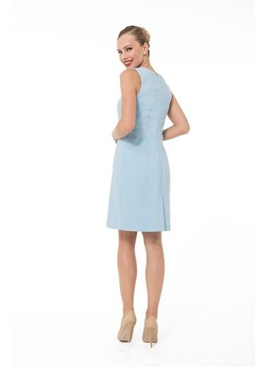 Accouchée Emzirme Özellikli Şık Elbise Mavi